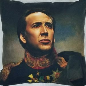 Other - NICOLAS CAGE oil painting portrait throw pillow